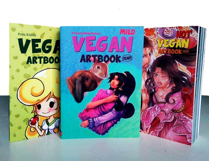 3-Pack Set Vegan Artbook - MILD, SPICY & HOT