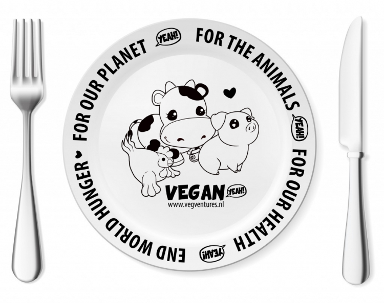Vegan dinner plate - Porcelain - Why vegan