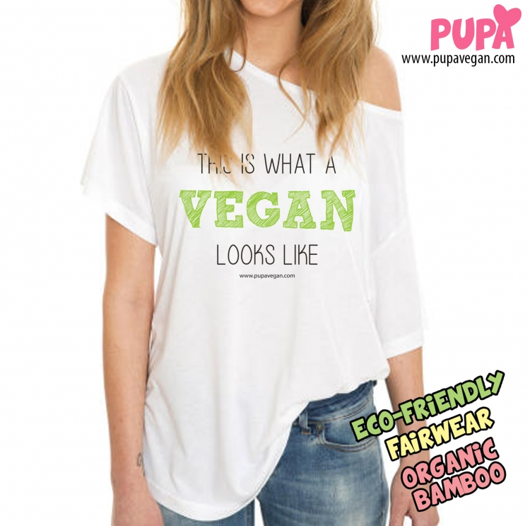 This is what a vegan looks like - shoulder t-shirt